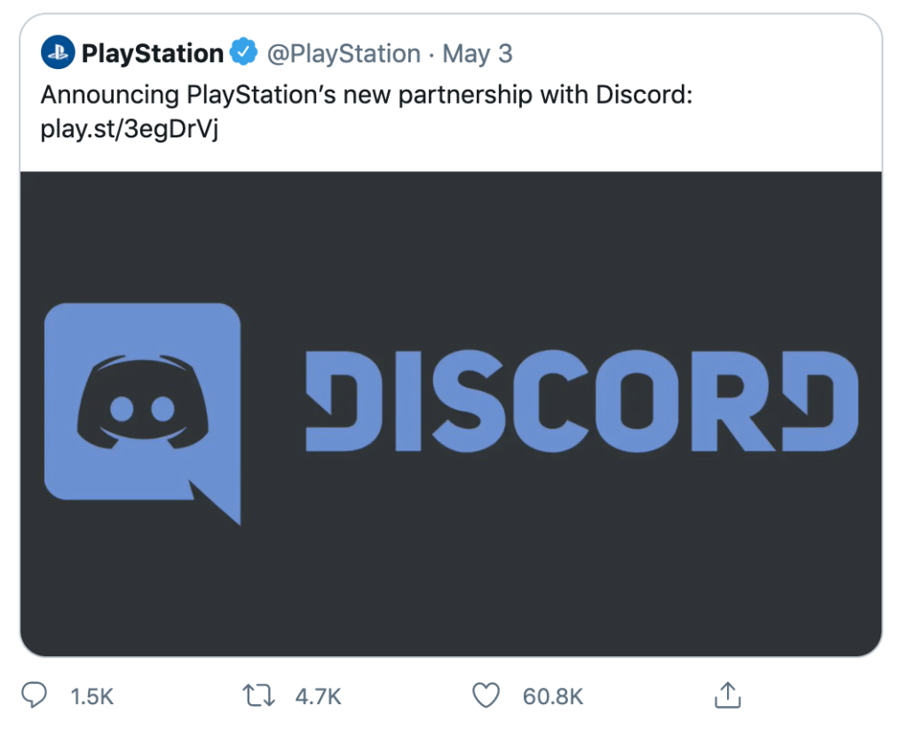 Playstation patnership with Discord 1